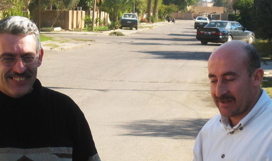 Muhammed og Muhammed på gaden i Al Yarmuk, hvor de begge voksede op.