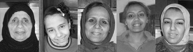 Bedstemor, Kamar, Mor Faride, Sarah og Hamsa